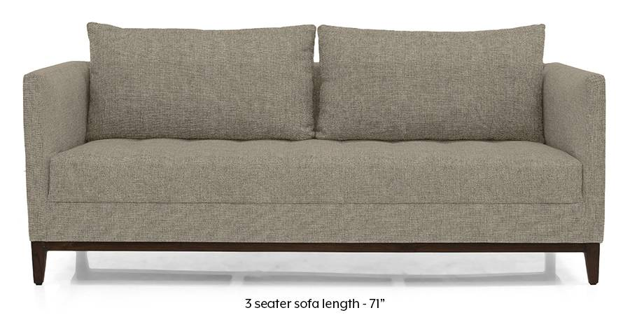 Florence Compact Sofa (Mist Brown) (Mist, Fabric Sofa Material, Compact Sofa Size, Regular Sofa Type) by Urban Ladder - - 173141