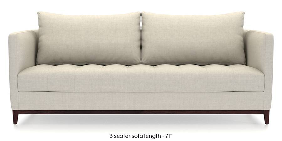 Florence Compact Sofa Pearl White Fabric Material