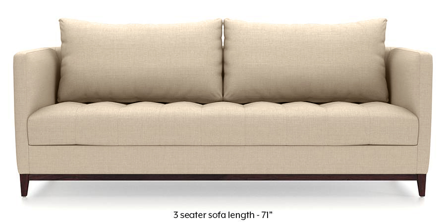 Florence Compact Sofa (Pearl White) (Pearl, Fabric Sofa Material, Compact Sofa Size, Regular Sofa Type) by Urban Ladder