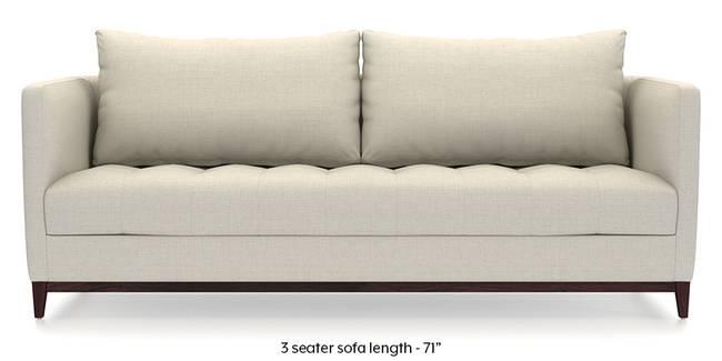 Florence Compact Sofa (Pearl White) (Pearl, Fabric Sofa Material, Compact Sofa Size, Regular Sofa Type)
