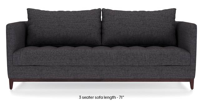 Florence Compact Sofa (Steel Grey) (Steel, Fabric Sofa Material, Compact Sofa Size, Regular Sofa Type)