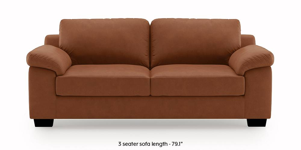 Esquel Leatherette Sofa (Tan Brown) (2-seater Custom Set - Sofas, None Standard Set - Sofas, Leatherette Sofa Material, Regular Sofa Size, Regular Sofa Type, Tan Brown) by Urban Ladder