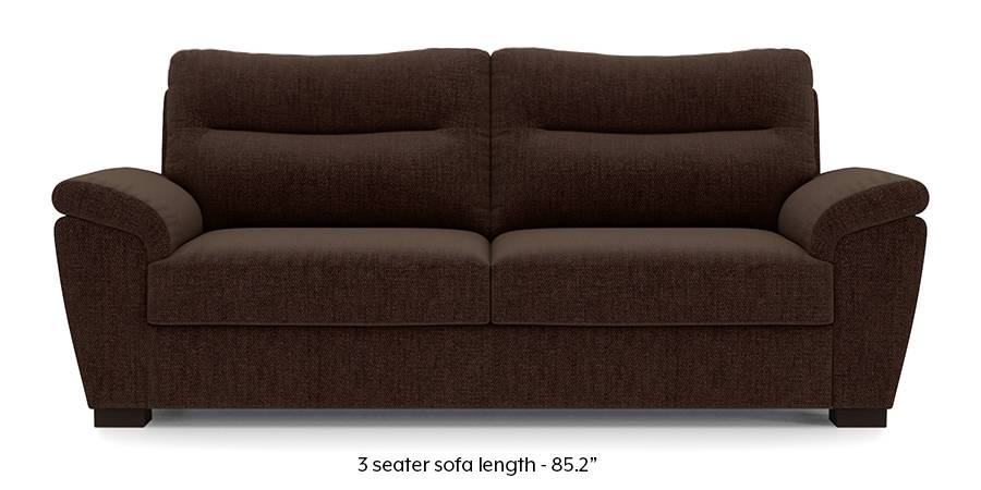 Adelaide Sofa (Dark Earth Brown) (Dark Earth, Fabric Sofa Material, Regular Sofa Size, Regular Sofa Type) by Urban Ladder - - 173207