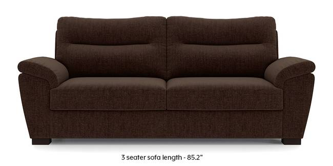 Adelaide Sofa (Dark Earth Brown) (Dark Earth, Fabric Sofa Material, Regular Sofa Size, Regular Sofa Type)