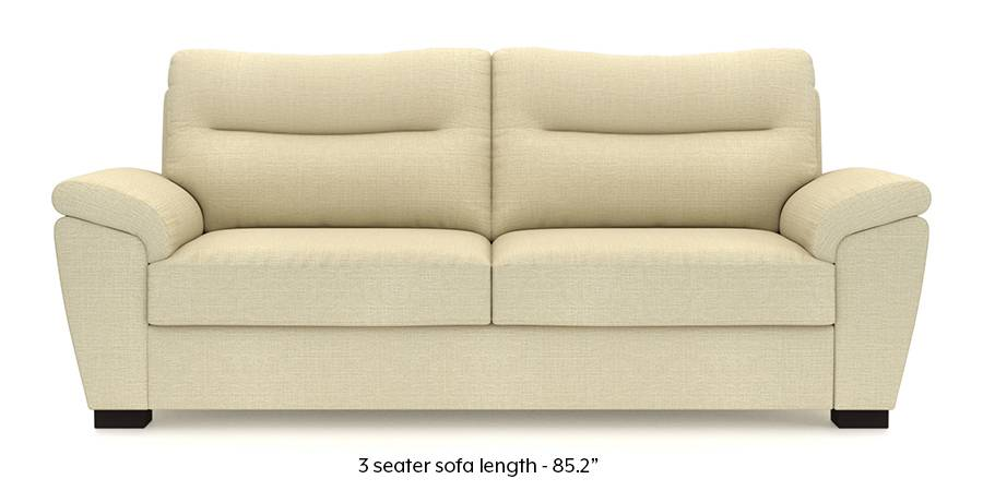 Adelaide Sofa (Ivory White) (Ivory, Fabric Sofa Material, Regular Sofa Size, Regular Sofa Type) by Urban Ladder