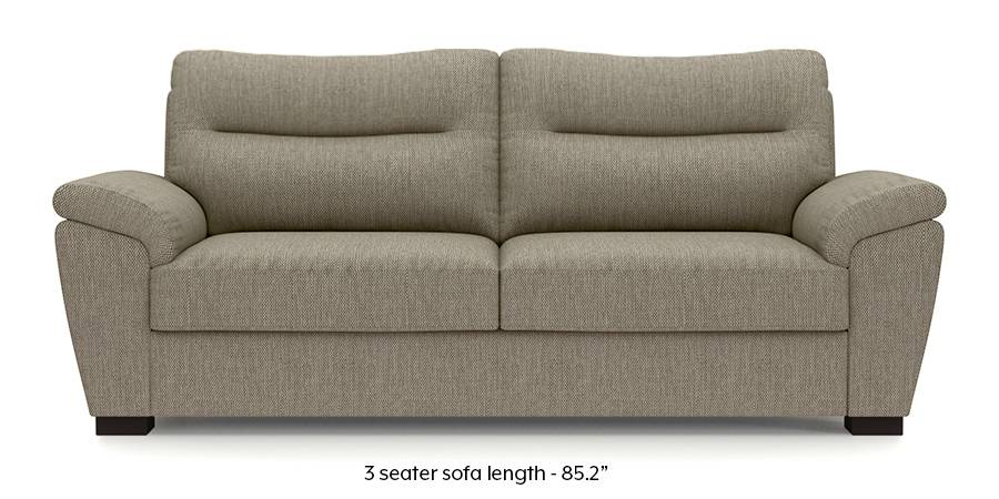 Adelaide Sofa (Mist Brown) (Mist, Fabric Sofa Material, Regular Sofa Size, Regular Sofa Type) by Urban Ladder