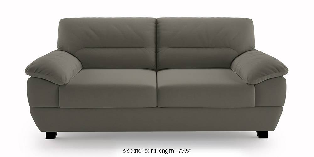 Alora Sofa (Grey) (Grey, 3-seater Custom Set - Sofas, None Standard Set - Sofas, Fabric Sofa Material, Regular Sofa Size, Regular Sofa Type) by Urban Ladder