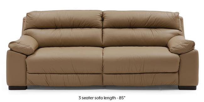 Thiene Sofa (Camel Italian Leather) (Camel, Regular Sofa Size, Regular Sofa Type, Leather Sofa Material)