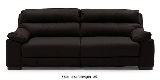 Thiene Sofa (Chocolate Italian Leather) (Chocolate, Regular Sofa Size, Regular Sofa Type, Leather Sofa Material)