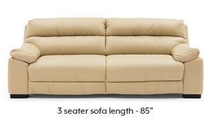 Thiene Sofa (Cream Italian Leather)