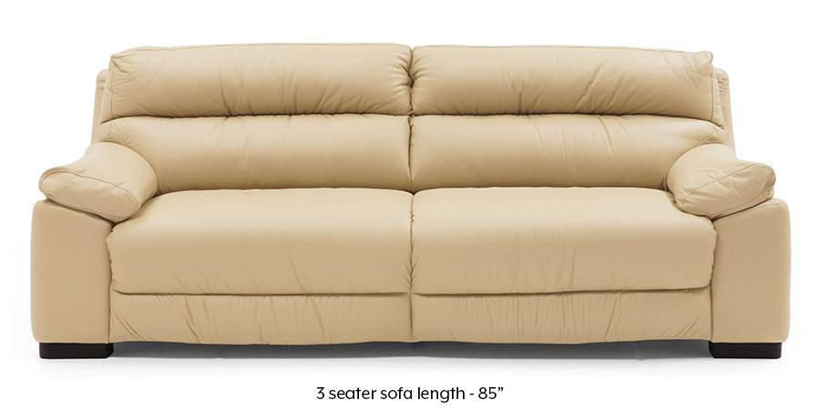 Thiene Sofa (Cream Italian Leather) (Cream, Regular Sofa Size, Regular Sofa Type, Leather Sofa Material) by Urban Ladder