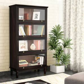 Malabar Barrister Bookshelf (60-Book Capacity) (Mahogany Finish) by Urban Ladder - Design 1 Full View - 173688