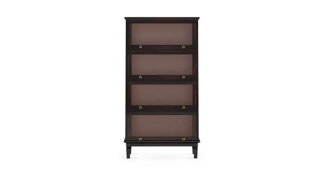 Malabar Barrister Bookshelf (60-Book Capacity) (Mahogany Finish) by Urban Ladder - Front View Design 1 - 173689