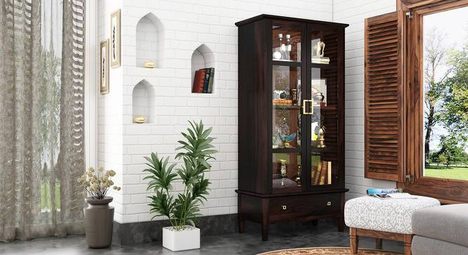 Malabar Bookshelf/Display Cabinet (55-book capacity) (Mahogany Finish) by Urban Ladder - Design 1 Full View - 173700