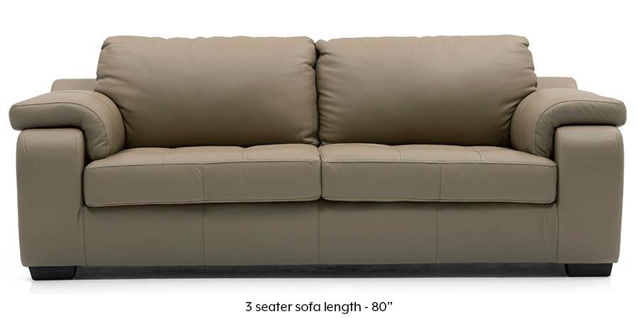 Trissino Sofa (Cappuccino Italian Leather) (Cappuccino, Regular Sofa Size, Regular Sofa Type, Leather Sofa Material) by Urban Ladder