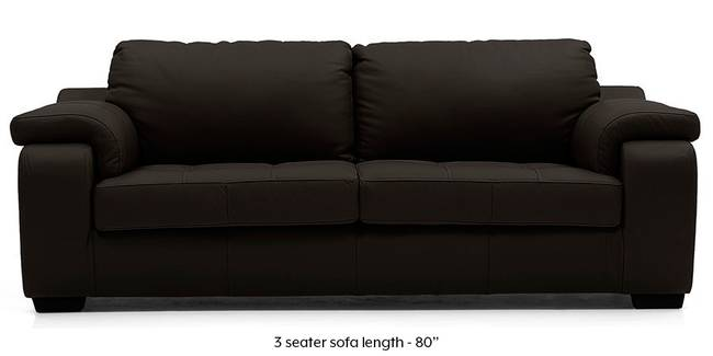 Trissino Sofa (Chocolate Italian Leather) (Chocolate, Regular Sofa Size, Regular Sofa Type, Leather Sofa Material)