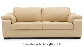 Trissino Sofa (Cream Italian Leather)