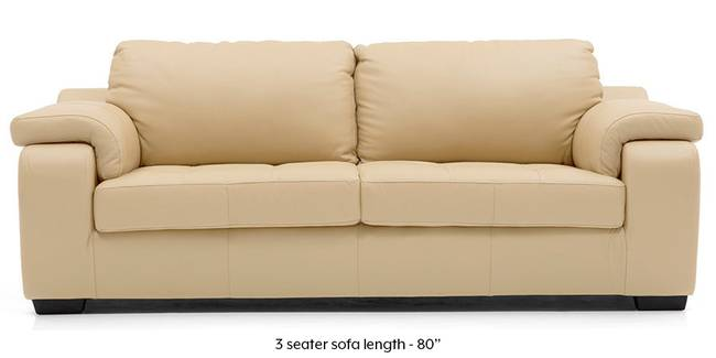 Trissino Sofa (Cream Italian Leather) (Cream, Regular Sofa Size, Regular Sofa Type, Leather Sofa Material)