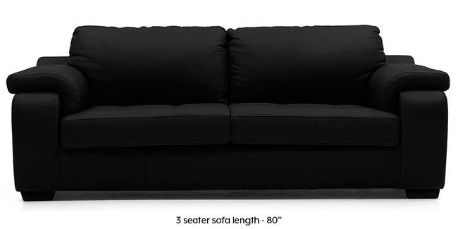 Trissino Sofa (Licorice Italian Leather) (Licorice, Regular Sofa Size, Regular Sofa Type, Leather Sofa Material)