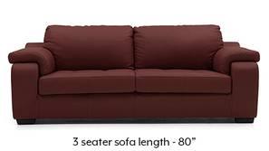 Trissino Sofa (Wine Italian Leather)