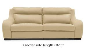 Vicenza Sofa (Cream Italian Leather)