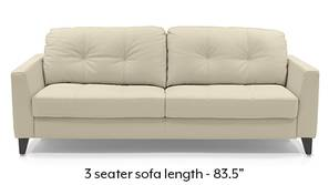 Franco Sofa (Cream Italian Leather)