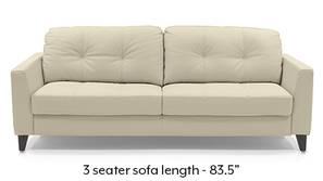 Franco Sofa (Cream Italian Leather)