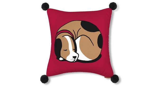 "Snoozy Pet Cushion Cover - Set Of 2 (16"" X 16"" Cushion Size, Doggie Bliss Pattern) by Urban Ladder"