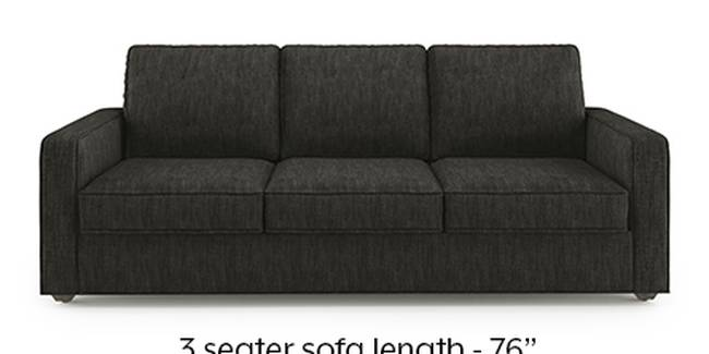 Apollo Sofa Set (Fabric Sofa Material, Regular Sofa Size, Soft Cushion Type, Regular Sofa Type, Master Sofa Component, Graphite Grey, Regular Back Type, Regular Back Height)
