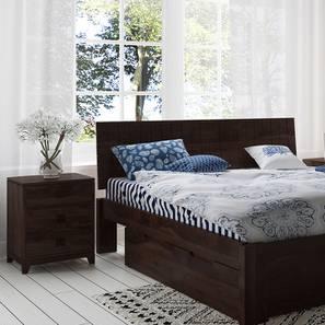 Magellan Bedside Table (Mahogany Finish) by Urban Ladder - Design 1 - 176007