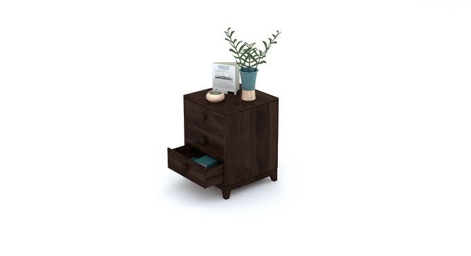 Magellan Bedside Table (Mahogany Finish) by Urban Ladder