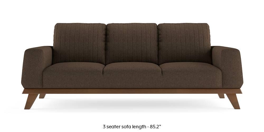 Granada Sofa (Mocha Brown) (1-seater Custom Set - Sofas, None Standard Set - Sofas, Mocha, Fabric Sofa Material, Regular Sofa Size, Regular Sofa Type) by Urban Ladder