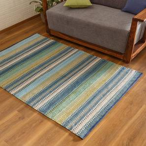 "Trebon Dhurrie (Blue, 36"" x 60"" Carpet Size) by Urban Ladder"