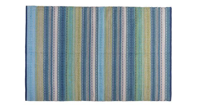 "Trebon Dhurrie (Blue, 122 x 183 cm  (48"" x 72"") Carpet Size) by Urban Ladder - Front View Design 1 - 176117"