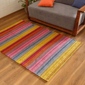 "Trebon Dhurrie (Raspberry, 36"" x 60"" Carpet Size) by Urban Ladder"