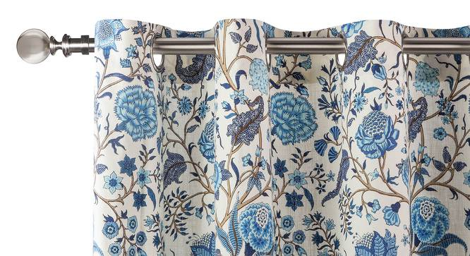 "Calico Curtains - Set of 2 (54"" x 108"" Curtain Size, Indigo - Floral Retreat  Pattern) by Urban Ladder"
