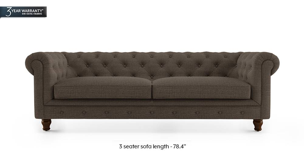 Winchester Fabric Sofa (Pine Brown) by Urban Ladder