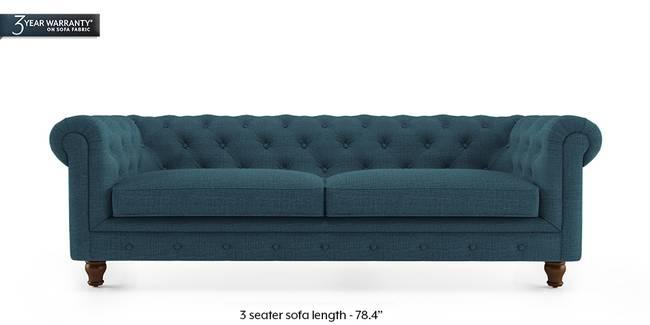 Winchester Fabric Sofa (Colonial Blue) (3-seater Custom Set - Sofas, None Standard Set - Sofas, Fabric Sofa Material, Regular Sofa Size, Regular Sofa Type, Colonial Blue)