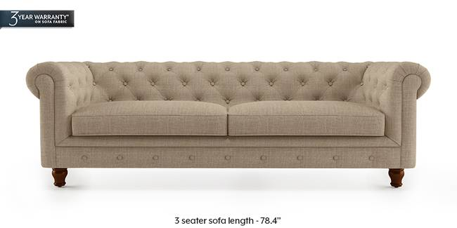 Winchester Fabric Sofa (Sandshell Beige) (3-seater Custom Set - Sofas, None Standard Set - Sofas, Fabric Sofa Material, Regular Sofa Size, Regular Sofa Type, Sandshell Beige)