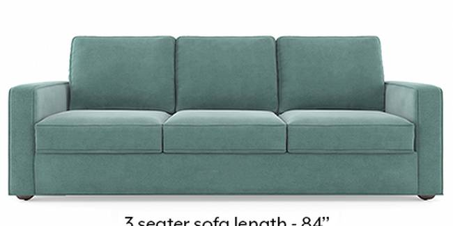 Apollo Sofa Set (Fabric Sofa Material, Regular Sofa Size, Soft Cushion Type, Regular Sofa Type, Master Sofa Component, Dusty Turquoise Velvet, Regular Back Type, Regular Back Height)