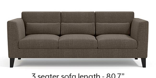 Lewis Sofa (Fabric Sofa Material, Regular Sofa Size, Soft Cushion Type, Regular Sofa Type, Master Sofa Component, Pine Brown)