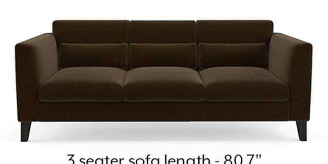 Lewis Sofa (Dark Earth, Fabric Sofa Material, Regular Sofa Size, Soft Cushion Type, Regular Sofa Type, Master Sofa Component)