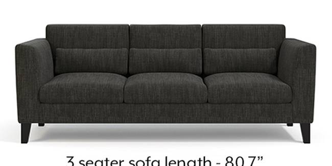 Lewis Sofa (Fabric Sofa Material, Regular Sofa Size, Soft Cushion Type, Regular Sofa Type, Master Sofa Component, Graphite Grey)
