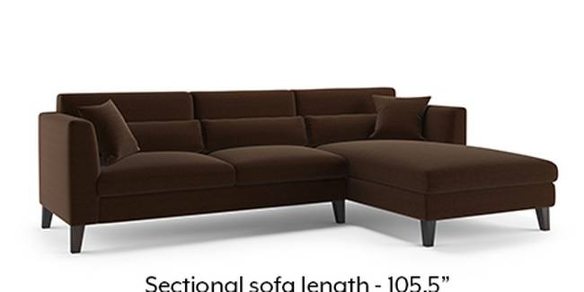 Lewis Sofa (Dark Earth, Fabric Sofa Material, Regular Sofa Size, Soft Cushion Type, Sectional Sofa Type, Sectional Master Sofa Component)