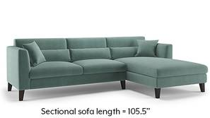Lewis Sectional Sofa (Dusty Turquoise Velvet)