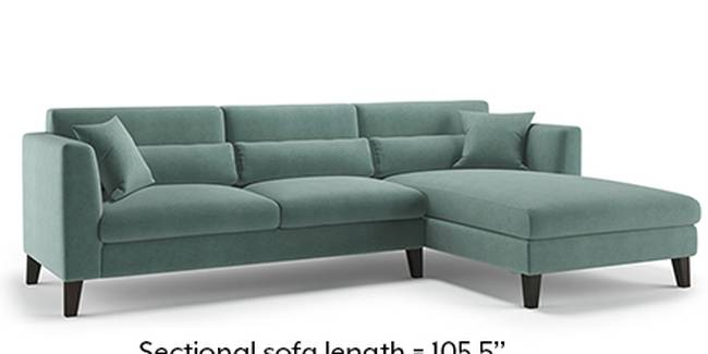 Lewis Sofa (Fabric Sofa Material, Regular Sofa Size, Soft Cushion Type, Sectional Sofa Type, Sectional Master Sofa Component, Dusty Turquoise Velvet)