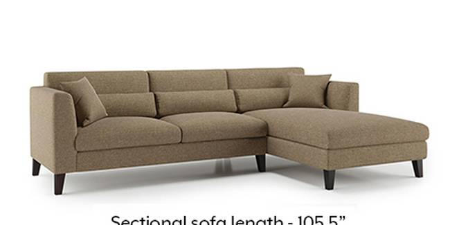 Lewis Sofa (Dune, Fabric Sofa Material, Regular Sofa Size, Soft Cushion Type, Sectional Sofa Type, Sectional Master Sofa Component)