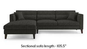 Lewis Sectional Sofa (Graphite Grey)