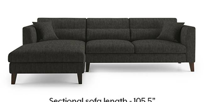 Lewis Sofa (Fabric Sofa Material, Regular Sofa Size, Soft Cushion Type, Sectional Sofa Type, Sectional Master Sofa Component, Graphite Grey)