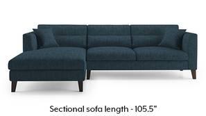 Lewis Sectional Sofa (Indigo Blue)